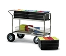 Charnstrom M283 Long Wire Basket Mail Cart