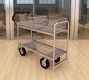 Charnstrom M287E Long Wire-Basket Cart with 8