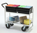 Charnstrom M287 Long Wire-Basket Cart with 8