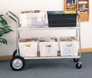 Charnstrom M288 Jumbo Distribution Bulk Mail Cart - Includes Plastic Bins