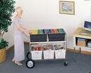 Charnstrom M289 Jumbo Mail Distribution Cart - Includes Plastic Bins