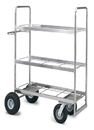 Charnstrom M291 Extra Long Triple Decker Frame Cart with Air Tire
