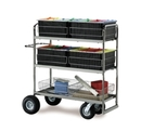 Charnstrom M293 Long Triple Decker Mail Cart with Baskets