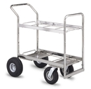 Charnstrom M299 Medium Double Decker Frame Cart with Casters and Wheel options