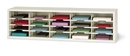 """Charnstrom P552 Charnstrom Mail Room Furniture and Office Organizer - 60""""W x 15-3/4""""D, 20 Pocket Sorter with 11-1/2""""W Shelves"""