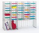 Charnstrom W458 Triple Organizer, 42 Pockets, Letter Depth Shelf
