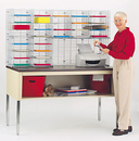 Charnstrom W464 Double Organizer, 28 Pockets, Legal Depth Shelf