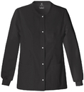 Cherokee 1330 Snap Front Warm-Up Jacket, 51% Poly 46% Rayon, 3% Spandex, Luxe