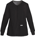 Cherokee 2306 Zip Front Knit Panel Warm-Up Jacket, 65% Polyester, /POLIESTER-35% Cotton/Algodon, Flexibles (Tonal)