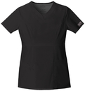 Cherokee 24703 V-Neck Top, 55% Cotton/ 42% Polyester, / 3% Spandex, WW Core Stretch Contemporary Fit