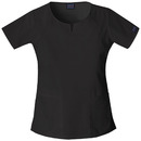 Cherokee 4824 Round Neck Top, 55% Cotton/ 42% Polyester, / 3% Spandex, Top, WW