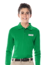 Classroom Uniforms 58352 Youth Unisex Long Sleeve Pique Polo