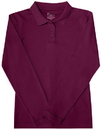 Classroom Uniforms 58544 Junior Long Sleeve Fitted Interlock Polo