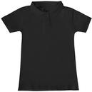 Classroom Uniforms 58582 Girls Short Sleeve Fitted Interlock Polo