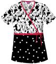 Tooniforms 6625C Mock Wrap Top, 100% Cotton/Algodon, Top, Tooniforms - Disney