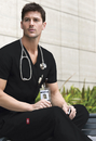 Dickies Medical 81906 Men's V-Neck Top, 55 % Cotton/Algodon-45% Polyester, /POLIESTER, Top, EDS Signature Men's