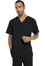 Dickies Medical 81910 Men's V-Neck Top, 75% Polyester, 21% Rayon, 4% Spandex, Top, Xtreme Stretch Men's