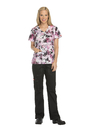 Dickies Medical 82724 Mock Wrap Top, 97% Cotton, 3% Spandex, Top, Taken With Texture