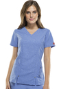 Dickies Medical 82816 V-Neck Top, 75% Polyester, 21% Rayon, 4% Spandex, Top, Xtreme Stretch