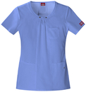 Dickies Medical 82850 Round Neck Top, 75% Polyester, 21% Rayon, 4% Spandex, Top, Xtreme Stretch