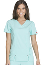 Dickies Medical 82851 V-Neck Top, 75% Polyester, 21% Rayon, 4% Spandex, Top, Xtreme Stretch