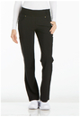 Cherokee CK002P Mid Rise Straight Leg Pull-on Pant, Petite, Inseam length 28 1/2