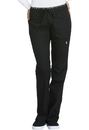 Cherokee CK003P Mid Rise Straight Leg Pull-on Pant, Petite, Inseam length 28 1/2
