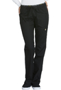Cherokee CK003 Mid Rise Straight Leg Pull-on Pant, 51% Poly 46% Rayon, 3% Spandex, Pant, Luxe Sport