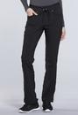 Cherokee CK010P Mid Rise Tapered Leg Drawstring Pants 94% Polyester 6% Spandex Crosshatch Dobby