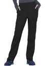 Cherokee CK095T Mid Rise Tapered Leg Drawstring Pant, 86% Nylon / 14% Spandex Knit