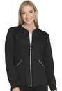 Cherokee CK300 Zip Front Warm-up Jacket, 51% Poly 46% Rayon, 3% Spandex, Warm Up Jacket, Luxe Sport