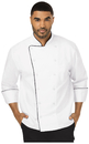Dickies Chef DC42B Unisex Executive Chef Coat with Piping