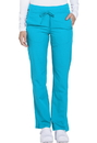 Dickies Medical DK130P Mid Rise Straight Leg Drawstring Pant 91% Polyester 9% Spandex Textured Dobby