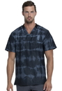 Dickies DK613 Dickies Dynamix Men's V-Neck Top,91% Polyester / 9% Spandex Textured Dobby