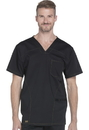 Dickies Medical DK630 Men's V-Neck Top 78% Polyester 20 % Rayon 2% Spandex Twill