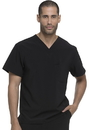 Dickies Medical DK635 Men's V-Neck Top 95% Polyester 5% Spandex Poplin