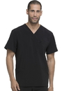 Dickies Medical DK645 Men's V-Neck Top 95% Polyester 5% Spandex Poplin