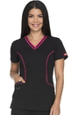 Dickies Medical DK715 V-Neck Top 75% Polyester 21% Rayon 4% Spandex Twill