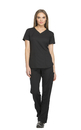 Dickies Medical DK730 V-Neck Top, 91% Poly 9% Spandex , Top, Dynamix