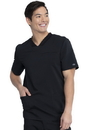 Dickies DK845 Dickies Balance Men's V-Neck Top, 77% Polyester / 20% Rayon / 3% Spandex Twill