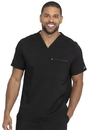 Dickies DK865 Dickies Balance Men's V-Neck Top,77% Polyester / 20% Rayon / 3% Spandex Twill