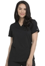 Dickies DK870 Dickies Balance V-Neck Top With Rib Knit Panels,77% Polyester / 20% Rayon / 3% Spandex Twill
