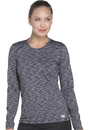 Dickies Medical DK920 Underscrub Long Sleeve Knit Tee 87% Polyester 13% Spandex Space Dye Knit