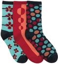 Cherokee DOTMYFLOWER 1-3pr pack of Crew Socks