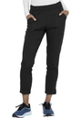 Elle EL101 Mid Rise Tapered Leg Ankle Pant, 92% Polyester / 8% Spandex Tonal Texture