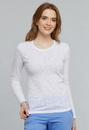 Tooniforms TF662 Long Sleeve Underscrub Knit Tee, 55% Cotton / 45% Polyester Burn-out Knit