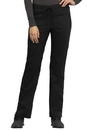 Cherokee WW005P Mid Rise Straight Leg Drawstring Pant,78% Polyester / 20 % Rayon / 2% Spandex Twill