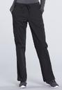Cherokee WW160P Mid Rise Straight Leg Drawstring Pant 63% Polyester 34% Cotton 3% Spandex Poplin