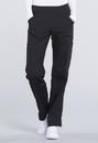 Cherokee WW170P Mid Rise Straight Leg Pull-on Cargo Pant 63% Polyester 34% Cotton 3% Spandex Poplin