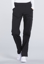 Cherokee WW170T Mid Rise Straight Leg Pull-on Cargo Pant 63% Polyester 34% Cotton 3% Spandex Poplin